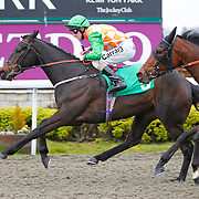 King Muro and L P Keniry winning the 6.30 race