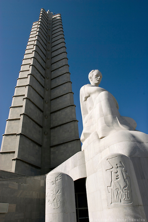 "Jose Marti monument in Havana.  JoséJulián MartíPérez (January 28, 1853 -May 19, 1895) was a leader of the Cuban independence movement as well as an esteemed poet and writer. He is considered the Cuban people's National hero. He is often referred to as ""El Apostol de la Independencia Cubana,"" the Apostle of Cuban Independence, for his travels abroad in support of the Cuban independence movement. Havana - CUBA"