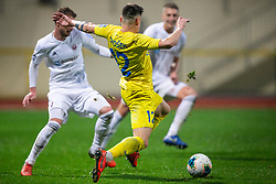 Gregor Sikosek of Domzale and Ozbej Kuhar of Triglav during football match between NK Domzale and NK Triglav in Round #18 of Prva liga Telekom Slovenije 2019/20, on November 23, 2019 in Sports park Domzale, Slovenia. Photo by Sinisa Kanizaj / Sportida