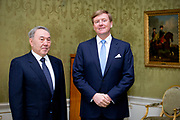 King Willem-Alexander of The Netherlands receives President Nazarbayev of Kazakhstan during an audience at Palace Huis ten Bosch, The Hague, The Netherlands, 23 March 2014. King Willem-Alexander receives the president upon the NSS Summit in The Hague.