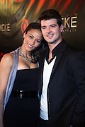 Robin Thicke and Paula Patton at the Robin Thicke?s Album Release ' Something Else' with Exclusive Event at Rainbow Room sponsored by Target on September 20, 2008 in New York City.