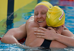 Winner Jessicah Schipper of Australia and Samantha Hamill of Australia during the Women's 200m Butterfly Final during the 13th FINA World Championships Roma 2009, on July 30, 2009, at the Stadio del Nuoto,  in Foro Italico, Rome, Italy. (Photo by Vid Ponikvar / Sportida)