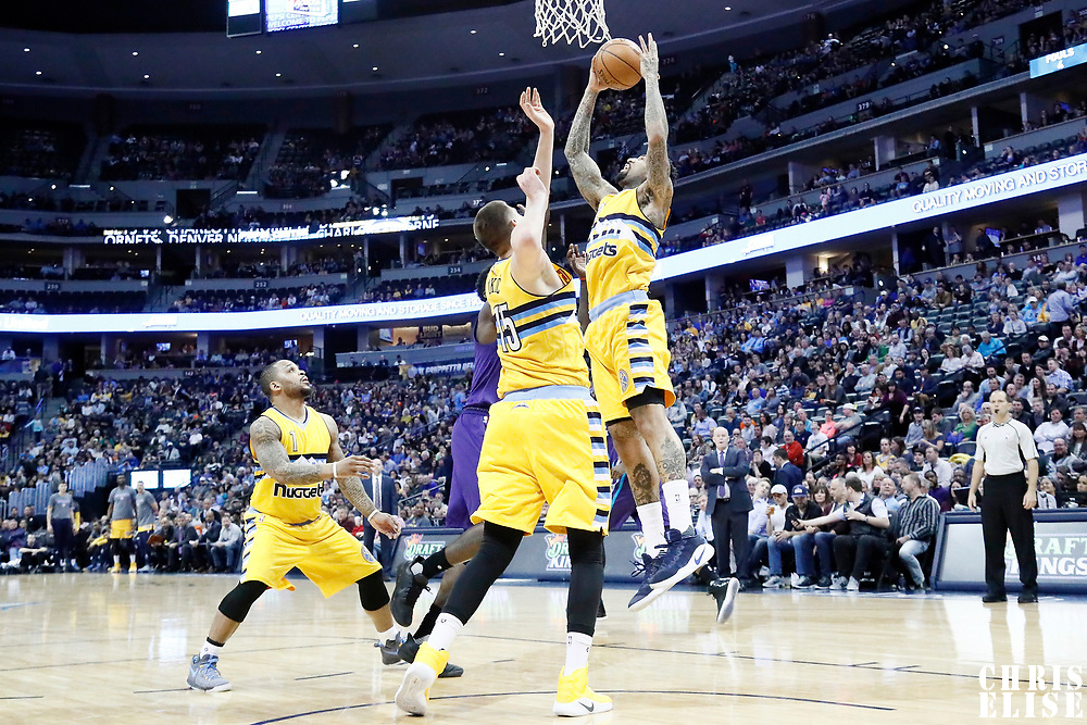 04 March 2017:  during the Charlotte Hornets 112-102 victory over the Denver Nuggets, at the Pepsi Center, Denver, Colorado, USA.