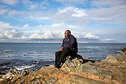Thulani Mabaso, 50, from Vryheid, pictured on Robben Island, South Africa. Mabaso was imprisoned on Robben Island for 6 years for membership of the ANC military wing - Umkhonto we Sizwe.