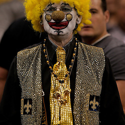 2009 September 13: A New Orleans Saints fan in the stands during a 45-27 win by the New Orleans Saints over the Detroit Lions at the Louisiana Superdome in New Orleans, Louisiana.