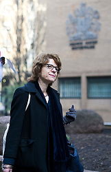 © London News Pictures. 18/02/2013 . London, UK.  Vicky Pryce arriving at Southwark Crown Court on February 18, 2013 where the jury is currently considering a verdict in the trial of Vicky Pryce for perverting the course of justice. Vicky Pryce admitted accepting penalty points incurred by her former husband and disgraced MP Chris Huhne in 2003. Photo credit : Ben Cawthra/LNP