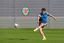 NEWPORT, WALES - Wednesday, October 8, 2014: Wales' Joe Walsh training at Dragon Park National Football Development Centre ahead of the UEFA Euro 2016 qualifying match against Bosnia and Herzegovina. (Pic by David Rawcliffe/Propaganda)