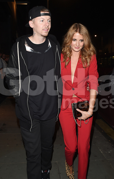 Professor Green and his wife Millie Mackintosh attend the Samsung Galaxy Alpha launch at The Collection in London, UK. 09/09/2014<br />