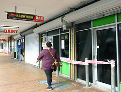 Police are investigating after a man received critical head injuries in an altercation outside the Backyard Bar around 3.00am, Manurewa, Auckland, New Zealand, Saturday, August 12, 2017. Credit:SNPA / Grahame Clark **NO ARCHIVING**