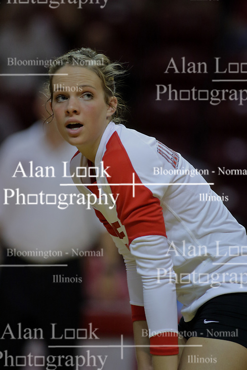 31 Aug 2010: Kelsey Holman. The Illinois State Redbirds trumped the Rambles of Loyola-Chicago 3 sets to none at Redbird Arena on the campus of Illinois State University in Normal Illinois.