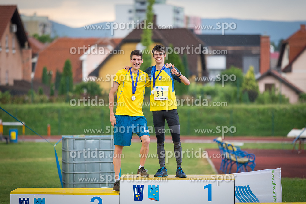 Simon Navodnik and Vid Botolin during day 2 of Slovenian Athletics Cup 2019, on June 16, 2019 in Celje, Slovenia. Photo by Peter Kastelic / Sportida