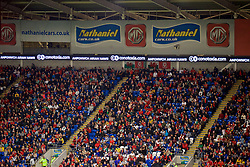 CARDIFF, WALES - Friday, September 6, 2019: Conotoxia branding during the UEFA Euro 2020 Qualifying Group E match between Wales and Azerbaijan at the Cardiff City Stadium. (Pic by Paul Greenwood/Propaganda)