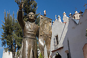 Statue of Father Luis Felipe Neri de Alfaro founder of the Sanctuary of Atotonilco an important Catholic shrine in Atotonilco, Mexico.