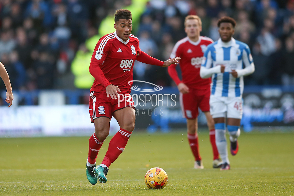 Birmingham City  midfielder David Davis (26)  during the EFL Sky Bet Championship match between Huddersfield Town and Birmingham City at the John Smiths Stadium, Huddersfield, England on 5 November 2016. Photo by Simon Davies.