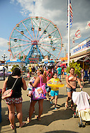 Brooklyn; New York; U.S. - August 9; 2014 - The Fourth Annual History Day at Deno's Wonder Wheel Amusement Park and The Coney Island History Project, has family fun music, history, and entertainment at historic Coney Island. The Wonder Wheel was one of many populat rides.