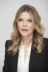 April 1, 2017 - Hollywood, California, U.S. - MICHELLE PFEIFFER promotes 'The Wizard of Lies'. Michelle Marie Pfeiffer (born April 29, 1958) is an American actress, singer and producer. She began her acting career in 1978 and had her first starring film role in Grease 2 (1982), before receiving mainstream attention for her breakout performance in Scarface (1983). Her greatest commercial successes include Batman Returns (1992), Dangerous Minds (1995), What Lies Beneath (2000) and Hairspray (2007). Pfeiffer was nominated for the Academy Award for Best Supporting Actress and won the BAFTA Award for Best Actress in a Supporting Role for Dangerous Liaisons (1988), and was nominated for the Academy Award for Best Actress and won the Golden Globe Award for Best Actress Motion Picture Drama for The Fabulous Baker Boys (1989). She received a third Oscar nomination for Love Field (1992). Her other notable film roles include The Witches of Eastwick (1987), Married to the Mob (1988), Frankie and Johnny (1991), The Age of Innocence (1993), Wolf (1994) and White Oleander (2002). Murder on the Orient Express (2017), Mother! (2017), The Wizard of Lies (TV Movie 2017), Where Is Kyra? (2017). (Credit Image: © Armando Gallo via ZUMA Studio)