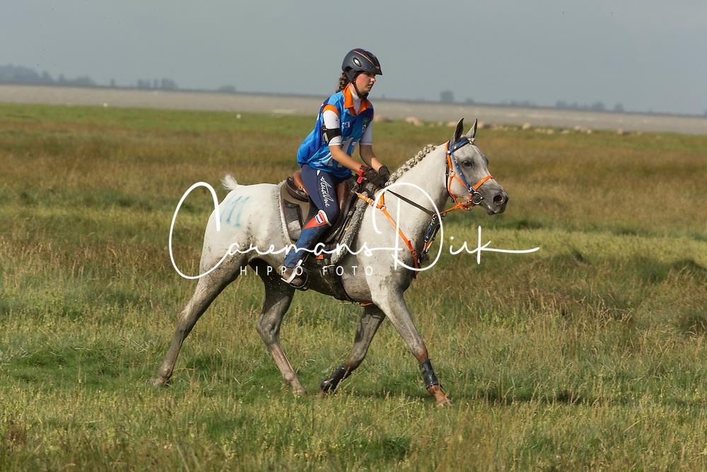 Marijke Visser, (NED), Laiza De Jalima - Endurance - Alltech FEI World Equestrian Games™ 2014 - Normandy, France.<br /> © Hippo Foto Team - Dirk Caremans<br /> 25/06/14