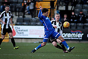 Notts County's Lewis Alessandra(7) clears during the EFL Sky Bet League 2 match between Notts County and Stevenage at Meadow Lane, Nottingham, England on 24 February 2018. Picture by Nigel Cole.