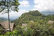 98 Acres resort luxury lodges, Ella, Badulla District, Uva Province, Sri Lanka, Asia view to Little Adams Peak