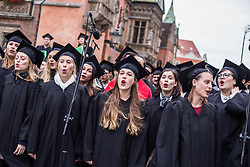 October 1, 2018 - Wroclaw, Poland - Wroclaw Poland. 1th October, 2018.Gaudeamus igitur - a song of students dating back to the 13th century, like every year sung by chur students in WrocÅ'aw on the occasion of the beginning of the academic year  Credit: Krzysztof Kaniewski/ZUMA (Credit Image: © Krzysztof Kaniewski/ZUMA Wire)