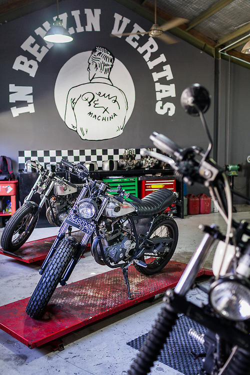Custom Motorcycles at Deus Custom Garage.