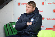 Peterborough United manager Grant McCann before the EFL Sky Bet League 1 match between Walsall and Peterborough United at the Banks's Stadium, Walsall, England on 18 February 2017. Photo by Jacqueline Theodosi.