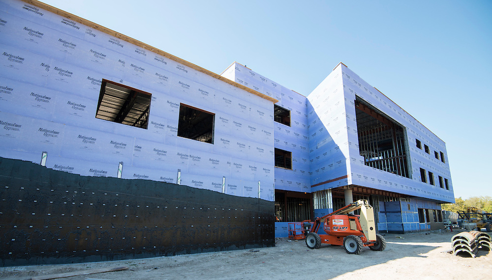 Construction of new North Houston Early College High School, October 16, 2015.