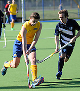 Callum Bailey in action for Southern. 2014 Ford National Hockey League. Southern v  Auckland at Alexander McMillan Hockey Centre, Dunedin, New Zealand. Saturday 30 August 2014. New Zealand. Photo: Richard Hood/photosport.co.nz