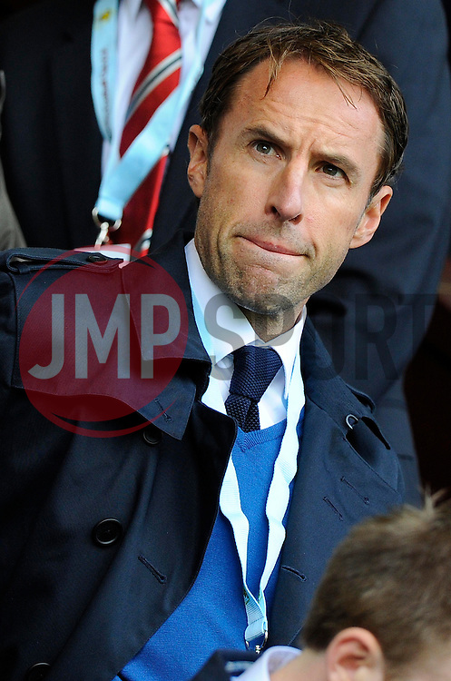England Under 21 manager, Gareth Southgate - Photo mandatory by-line: Joe Meredith/JMP - Mobile: 07966 386802 30/08/2014 - SPORT - FOOTBALL - Burnley - Turf Moor - Burnley v Manchester United - Barclays Premier League