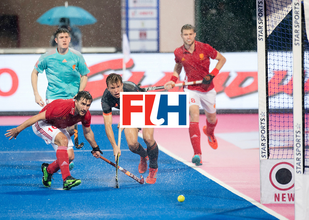 Odisha Men's Hockey World League Final Bhubaneswar 2017<br /> Match id:17<br /> England v Netherlands<br /> Foto: Thijs van Dam (Ned) mist voor open doel.<br /> COPYRIGHT WORLDSPORTPICS FRANK UIJLENBROEK