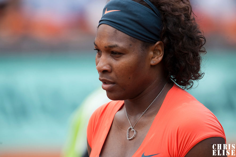 3 June 2009: Serena Williams of USA is seen during the Women's single quarter final match on day eleven of the French Open at Roland Garros in Paris, France.