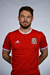 NANNING, CHINA - Saturday, March 24, 2018: Wales' Tom Bradshaw during a squad photo shoot at the Wanda Realm Hotel on day five of the 2018 Gree China Cup International Football Championship. (Pic by David Rawcliffe/Propaganda)