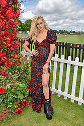 Alice Dellal at the Cartier Queen's Cup Polo 2019 held at Guards Polo Club, Windsor, Berkshire. UK 16 June 2019. <br /> <br /> Photo by Dominic O'Neill/Desmond O'Neill Features Ltd.  +44(0)7092 235465  www.donfeatures.com
