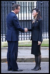 Prime Minister David Cameron greets Thailand Prime Minister Yingluck Shinawatra  in Downing Street, London, Wednesday, 14th November 2012.  Photo by: Stephen Lock / i-Images