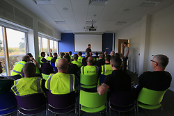 UK ENGLAND NORFOLK SHERINGHAM SHOAL 25SEP13 - Morning briefing at Scira Energy prior to departure to the Sheringham Shoal wind farm in the North Sea off the Norfolk coast, England.<br /> <br /> <br /> <br /> jre/Photo by Jiri Rezac<br /> <br /> <br /> <br /> © Jiri Rezac 2013