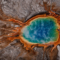 Grand Prismatic Geyser. Yellowstone National Park.