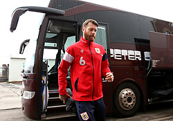 Nathan Baker of Bristol City arrives at Barnsley - Mandatory by-line: Robbie Stephenson/JMP - 30/03/2018 - FOOTBALL - Oakwell Stadium - Barnsley, England - Barnsley v Bristol City - Sky Bet Championship