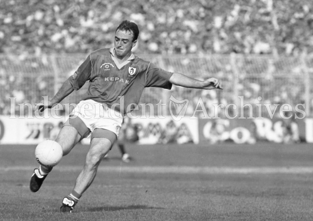 991-326 All-Ireland Final: Down 1-16 Meath 1-14. 15/9/91 Pic: Declan Cahill (Part of the Independent Newspapers Ireland/NLI Collection)