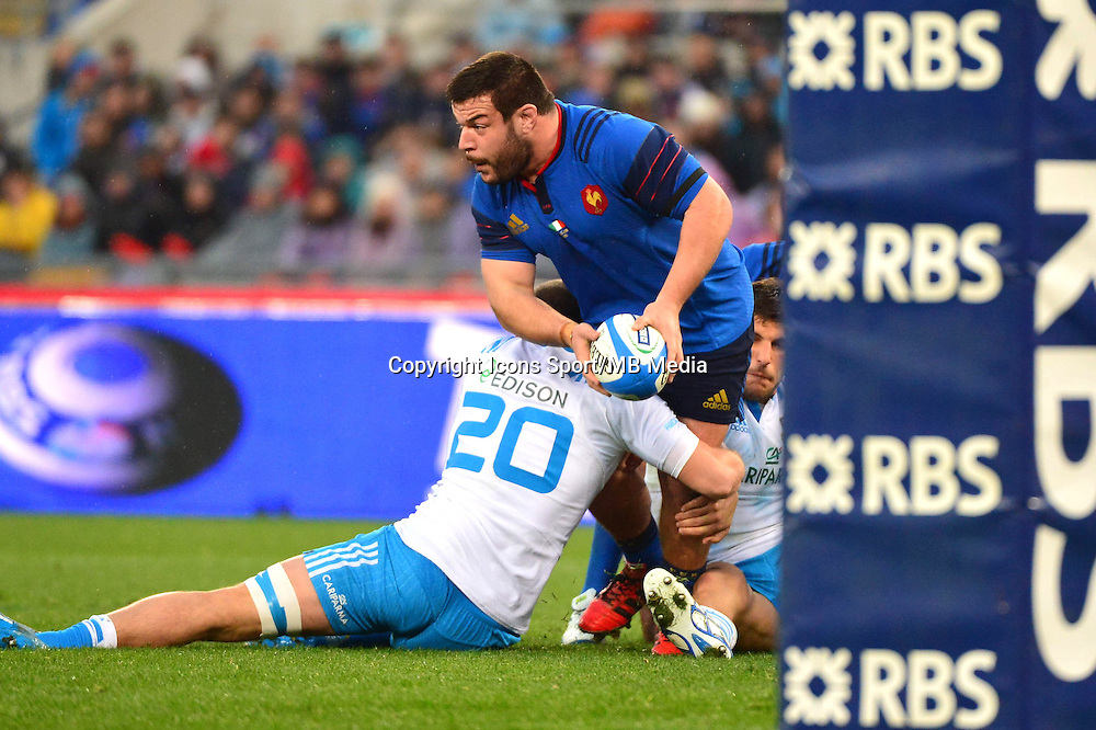 Rabah SLIMANI - 15.03.2015 - Rugby - Italie / France - Tournoi des VI Nations -Rome<br /> Photo : David Winter / Icon Sport