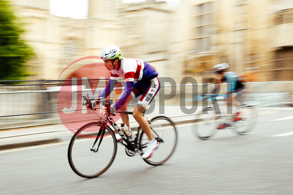 Cyclists take part in the Youth Race during the first ever Bristol Grand Prix, a closed circuit city centre bicycle road race - Mandatory byline: Rogan Thomson/JMP - 07966 386802 - 20/06/2015 - SPORT - Cycling - Bristol, England.