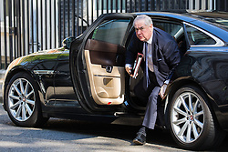 London, UK. 21 May, 2019. Geoffrey Cox QC MP, Attorney General, arrives at 10 Downing Street for a Cabinet meeting.