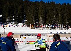 Tomas Kos and FAK Jakov  of Slovenia prior to the Men 12.5 km Mass Start competition of the e.on IBU Biathlon World Cup on Sunday, March 9, 2014 in Pokljuka, Slovenia. Photo by Vid Ponikvar / Sportida