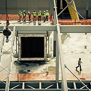 Workers on the top floor of the Turbine Building at Blue Plains WWTP in Washington,DC.