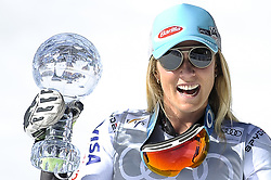 March 16, 2019 - Andorra La Vella, Andorra - Mikaela Shiffrin of USA Ski Team, win the Cristal Globe of  Ladie's Giant Slalom Audi FIS Ski World Cup, on March 16, 2019 in El Tarter, Andorra. (Credit Image: © Joan Cros/NurPhoto via ZUMA Press)