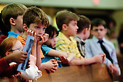 St. Germaine Communions recipients attend a May Crowning cermony marking the 50th anniversary of the Catholic Parish in southwest suburban Oak Lawn. In attendance are several founding parishioners along with upcoming Confirmation recipients. May 6, 2012 l Brian J. Morowczynski~ViaPhotos..For use in a single edition of Catholic New World Publications, Archdiocese of Chicago. Further use and/or distribution may be negotiated separately. ..Contact ViaPhotos at 708-602-0449 or email brian@viaphotos.com.