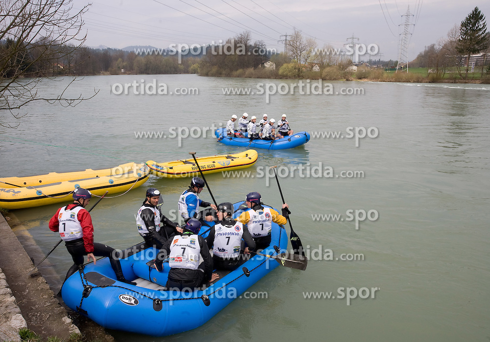 Team Italy (7) and Delta Sport of Croatia (6) at Euro Cup 2009 R6 Rafting in TT & H2H and Slovenian National Championship 2009, on April 4, 2009, in Tacen, Ljubljana, Slovenia. (Photo by Vid Ponikvar / Sportida)