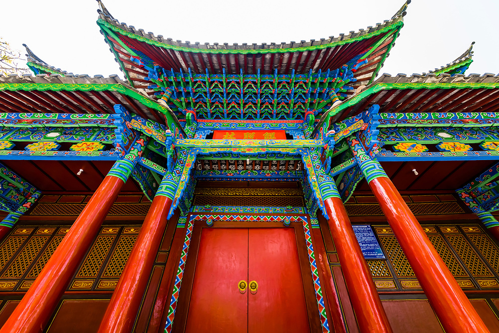 A pavilion in Black Dragon Pool Park, Lijiang, Yunnan Province, China.