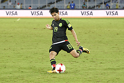 October 8, 2017 - Kolkata, West Bengal, India - Mexico mid fielder Diego Lainez team during the FIFA U 17 World Cup India 2017 Group F matches in Kolkata.Player of Mexico and Iraq in action during the FIFA U 17 World Cup India 2017 Group F match on October 9, 2017 in Kolkata  (Credit Image: © Saikat Paul/Pacific Press via ZUMA Wire)