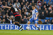 Brighton striker, Anthony Knockaert (27) during the Sky Bet Championship match between Brighton and Hove Albion and Queens Park Rangers at the American Express Community Stadium, Brighton and Hove, England on 19 April 2016. Photo by Phil Duncan.