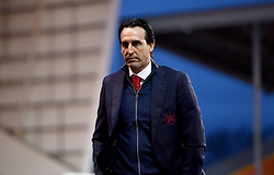 Arsenal manager Unai Emery walks across the pitch prior to the Emirates FA Cup, third round match at Bloomfield Road, Blackpool.
